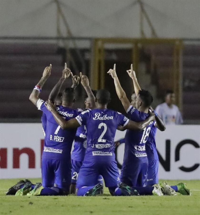 En la imagen, jugadores del Árabe Unido. EFE/Archivo