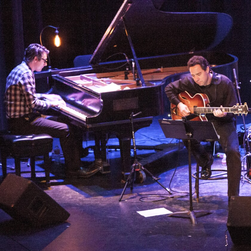 """The Athenaeum Music & Arts Library presents """"Jazz at the Athenaeum Streaming Live"""" with Josh Nelson and Larry Koonse."""