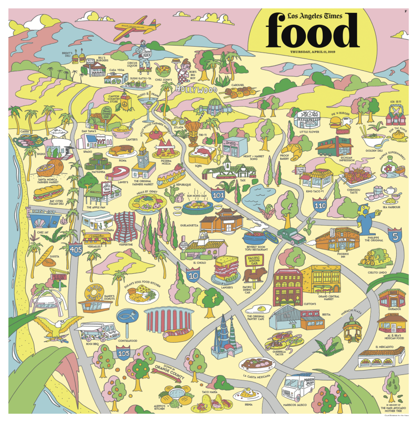 Los Angeles Times Food cover, April 11, 2019
