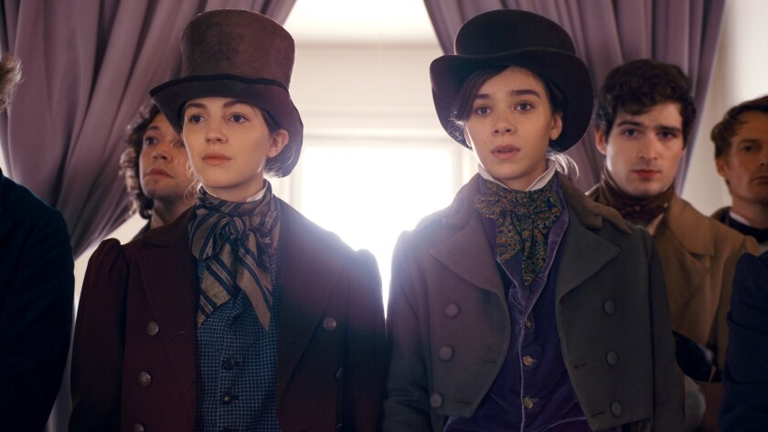 "Ella Hunt and Hailee Steinfeld in ""Dickinson,"" which reconsiders the life of Emily Dickinson."