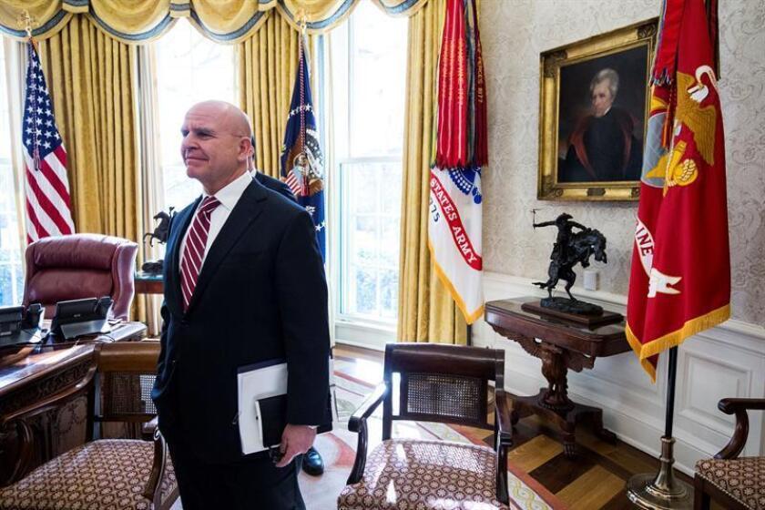 El presidente, Donald Trump, reemplazará a su asesor de Seguridad Nacional, H.R. McMaster, por el exembajador ante las Naciones Unidas John Bolton, informó el mandatario en su cuenta de Twitter. EFE/POOL/Archivo