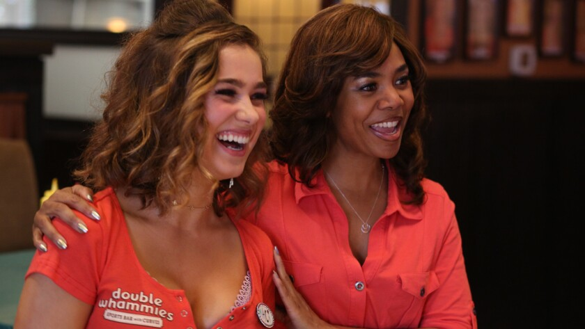 """Haley Lu Richardson, left, and Regina Hall in the movie """"Support the Girls."""""""