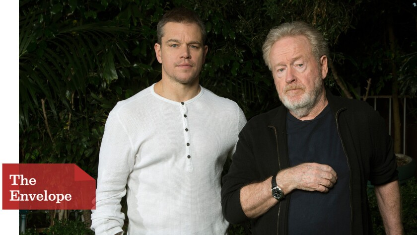 """""""The Martian"""" star Matt Damon and director Ridley Scott worked closely on the film -- especially because Damon was often the only actor in scenes."""