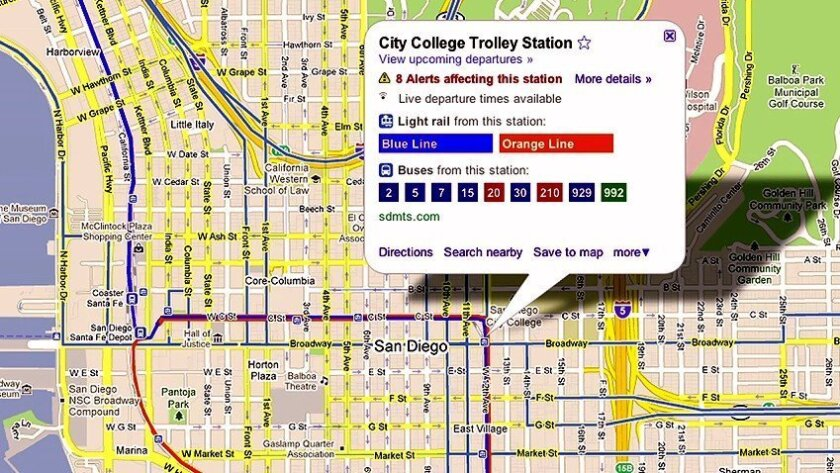 Google, MTS team up for real-time bus maps - The San Diego