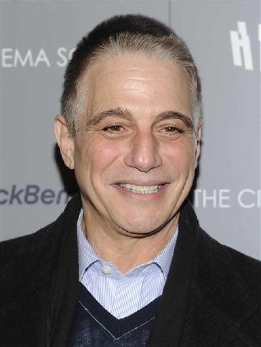 "FILE - In a Wednesday, Jan. 18, 2012 file photo, Tony Danza attends a special screening of ""Haywire"" hosted by the Cinema Society at the Landmark Sunshine Cinema in New York. Tony Danza is Broadway-bound, starring in a musical based on the movie ""Honeymoon in Vegas."" Producers said Monday, Feb. 6, 2012 that the former ""Taxi"" star will play a Vegas wise guy in the show, which makes its debut in November in Toronto and then is to head to Broadway in the spring of 2013. (AP Photo/Evan Agostini, File)"