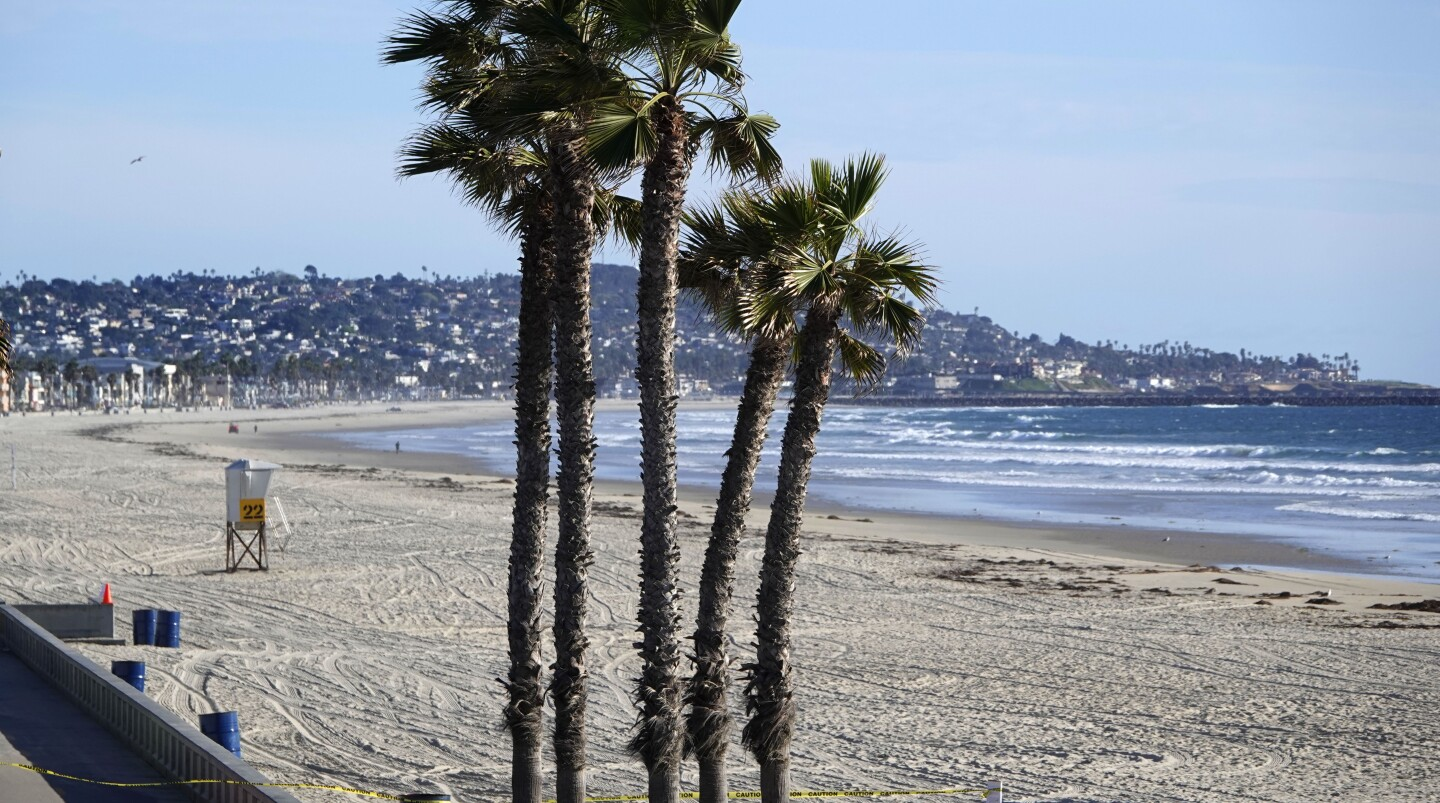 Pacific Beach, along with other San Diego beaches were closed on March 24, 2020. San Diego beaches and parks were closed down to stop people from gathering due to the coronavirus.