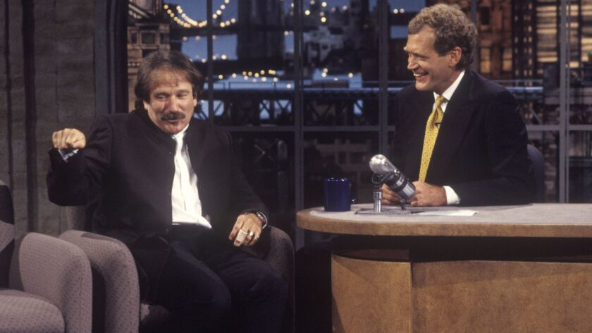 Robin Williams on the second taping of the Late Show with David Letterman, August 31, 1993 on the CB