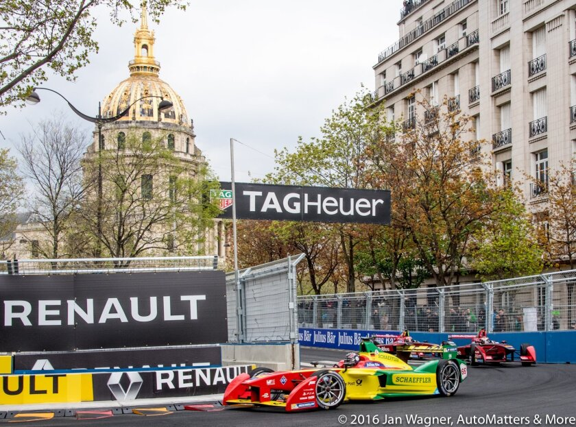 Formula E Paris ePrix on the streets of Paris