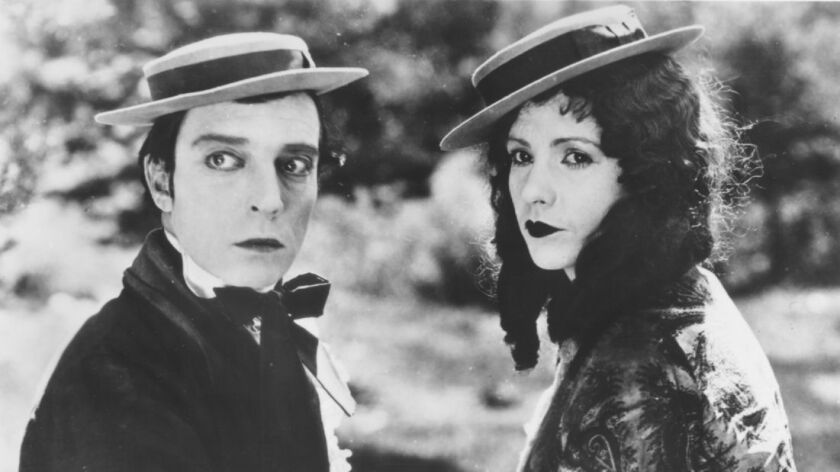 """Buster Keaton and Natalie Talmadge in """"Our Hospitality."""""""