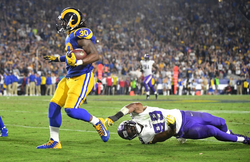 d873ed87 Everything runs through Todd Gurley in Rams' explosive offense - Los ...