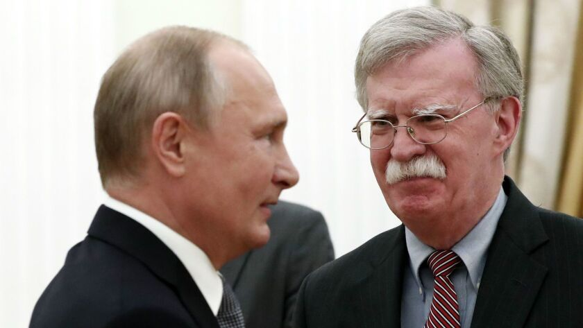 US National Security Adviser John Bolton visits Moscow, Russian Federation - 23 Oct 2018