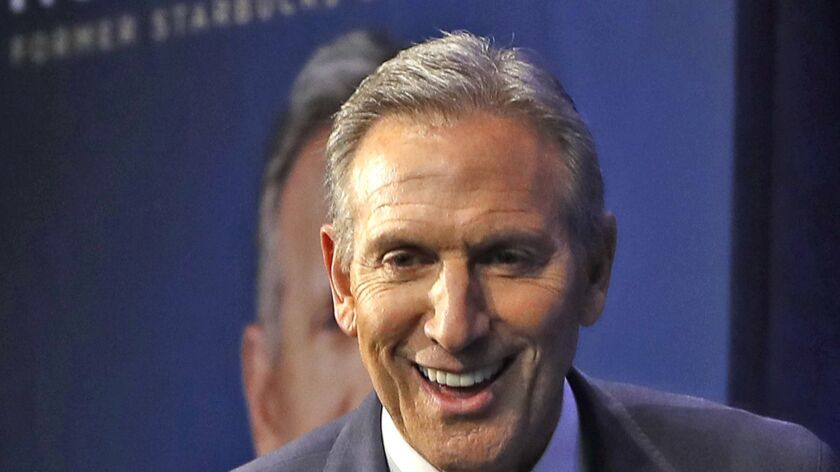 If Howard Schultz sought the White House, the former Starbuck chairman and chief executive would present himself as a pragmatic centrist beholden to no political party.
