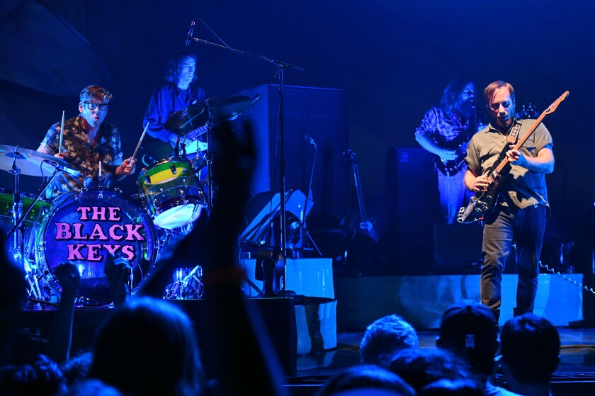 The Black Keys perform at the Wiltern