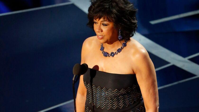 Academy president Cheryl Boone Isaacsduring the 2017 Oscars telecast.