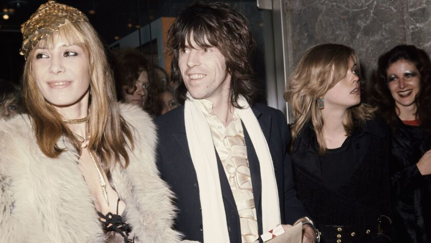 "Anita Pallenberg and Keith Richards attend the premiere of ""Performance"" in 1970."