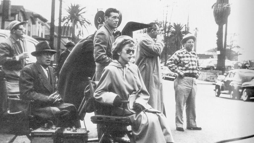 Filmmaker Ida Lupino on set.