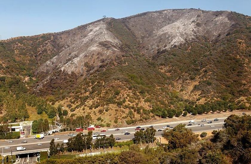 Heavy rains could cause mudslides in the hillsides of the Sepulveda Pass on the 405 Freeway, forecasters warned Sunday.
