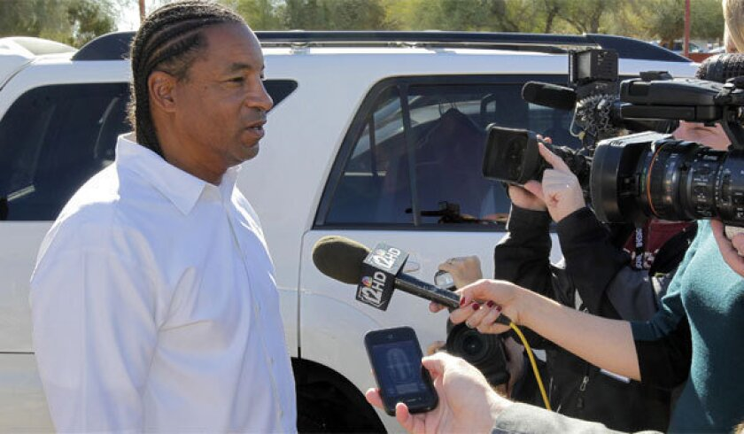 Arizona Cardinals defensive coordinator Ray Horton speaks with the media Jan. 2 after his first interview for the team's head coaching position.