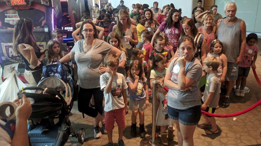 A mall in Clearwater, Fla., was packed with people hoping to take advantage of the Build-A-Bear Workshop promotion.