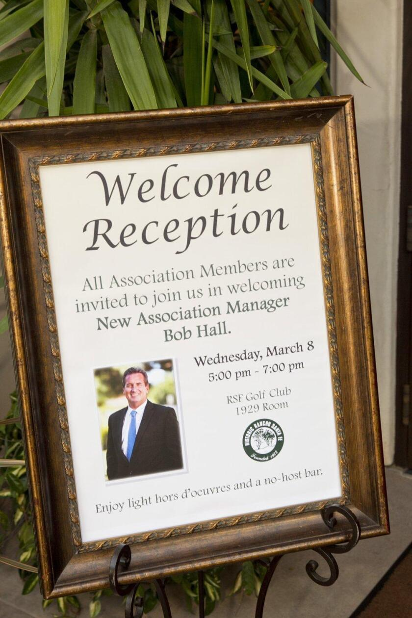 RSF Golf Club hosted a reception for the new RSF Association Manager Bob Hall