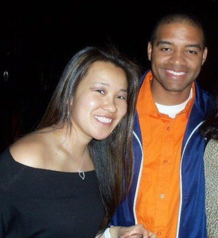 Monica Quan and her fiance, Keith Lawrence.