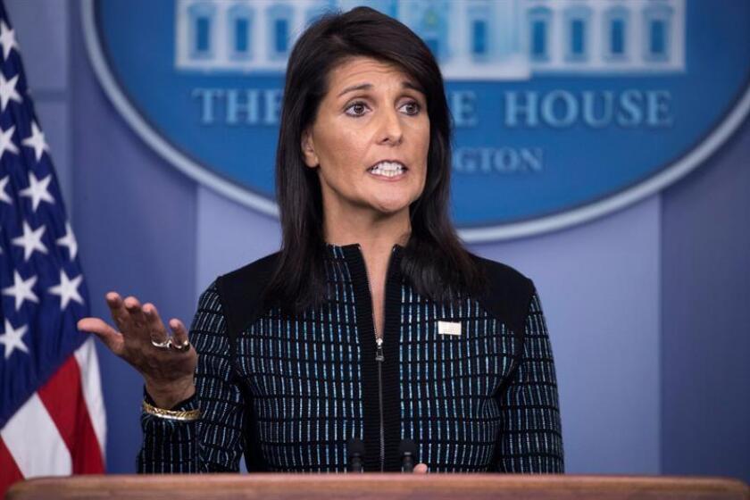 La embajadora de EEUU ante la ONU, Nikki Haley. EFE/Archivo