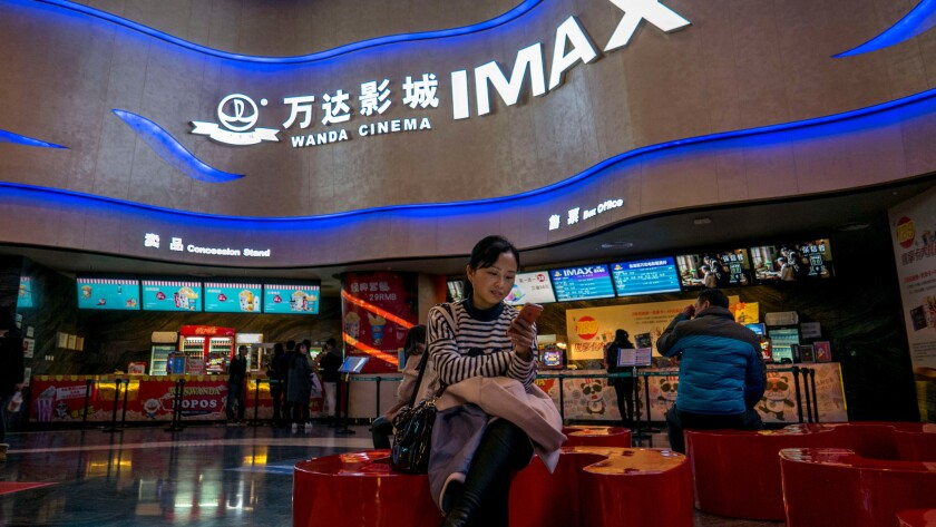 A Wanda Cinema location in Wuhan, in the Chinese province of Hubei.