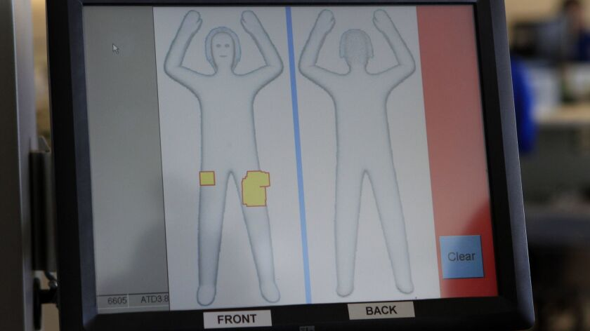 TSA says an airport full-body scanner must add a filter to