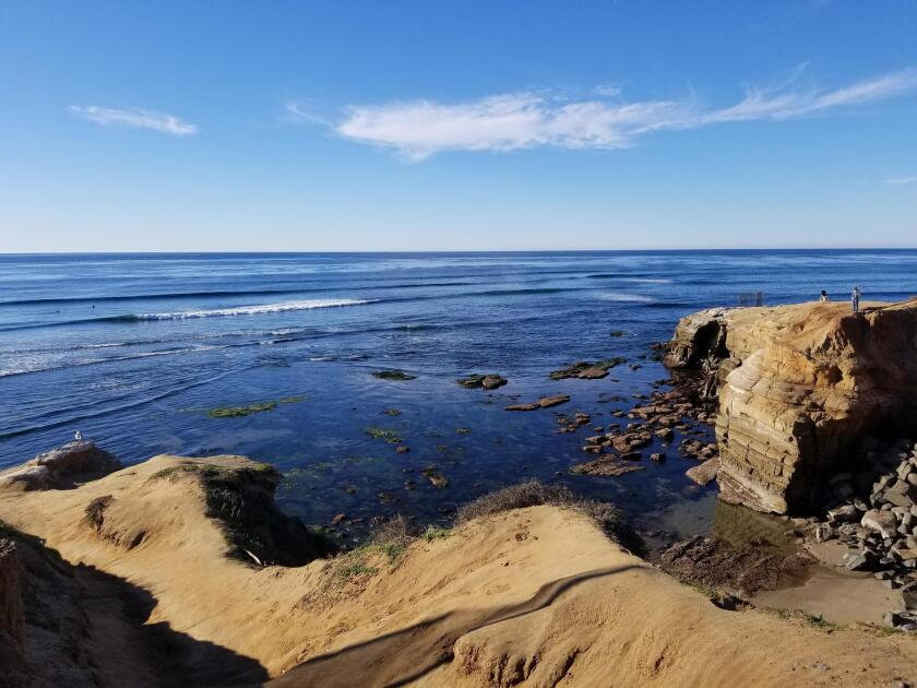 In some spots, the Sunset Cliffs in Ocean Beach and Point Loma rise over 300 feet above sea level.