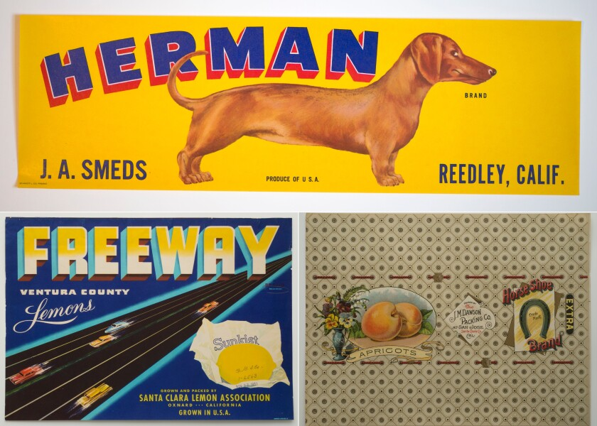 Classic fruit box label advertising