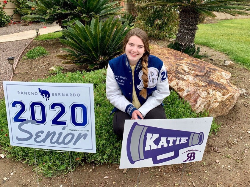 Katie Quis of Rancho Bernardo hopes to attend on-campus classes this fall at San Diego State University.