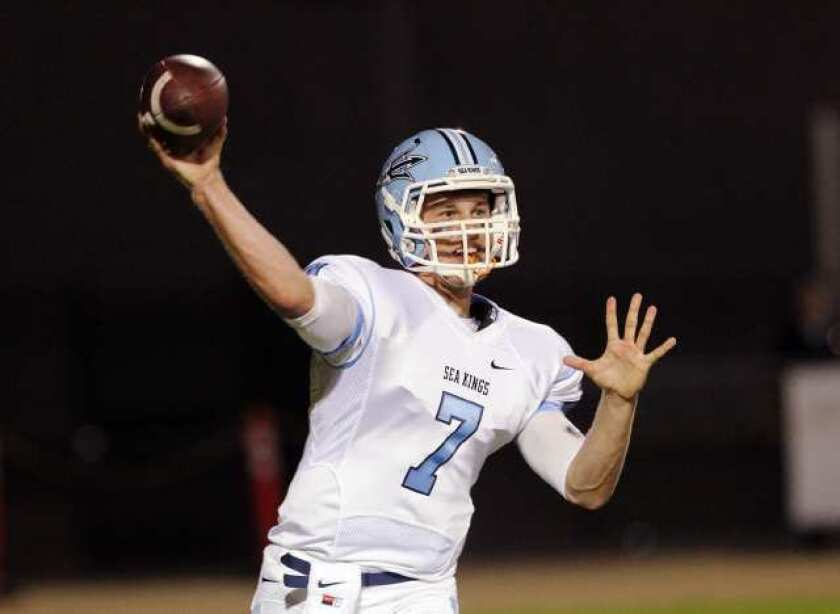 Corona del Mar High quarterback Cayman Carter was named Pacific Coast League MVP.