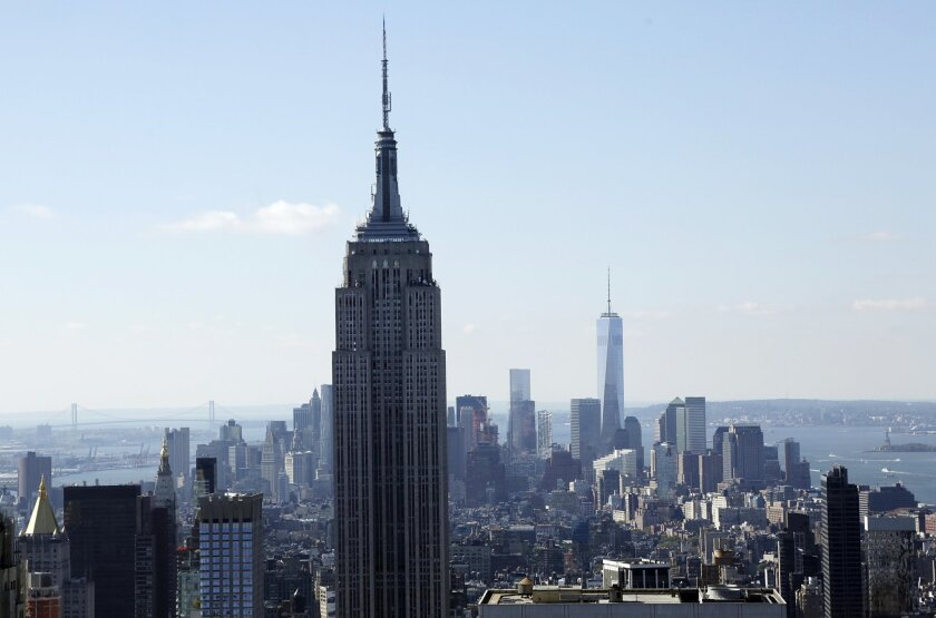 The Empire State Building in New York City.