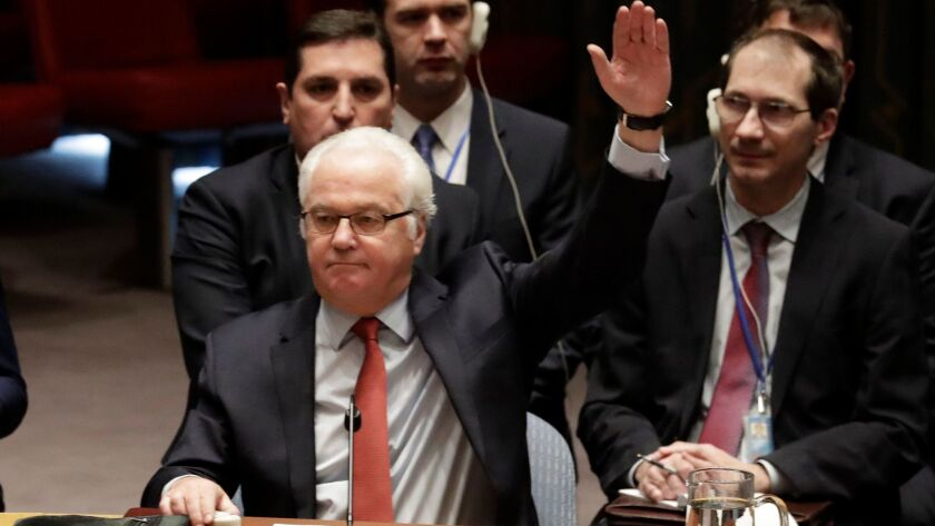 U.N. Security Council vote on Syria