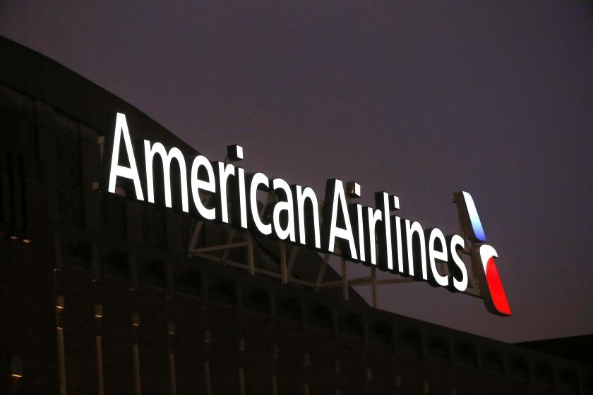 El logotipo de American Airlines.