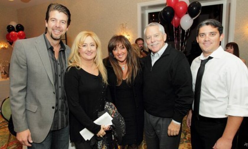 Steve and Kathleen Flynn, Jolane and Kevin Crawford, Mike Dawson