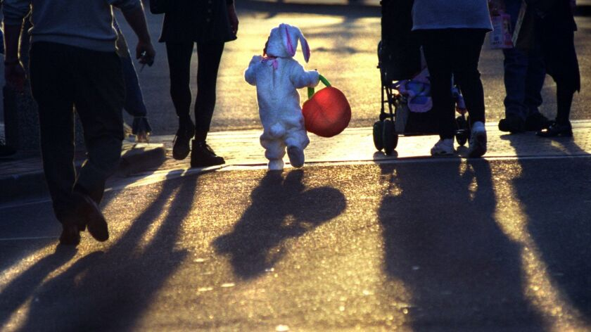 ME.halloween.bunny.103098.AAG––As the sun goes down on the Old Towne Orange Harvest Fest in Orange,