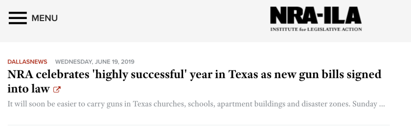 Column: El Paso shooting follows NRA pushing looser Texas