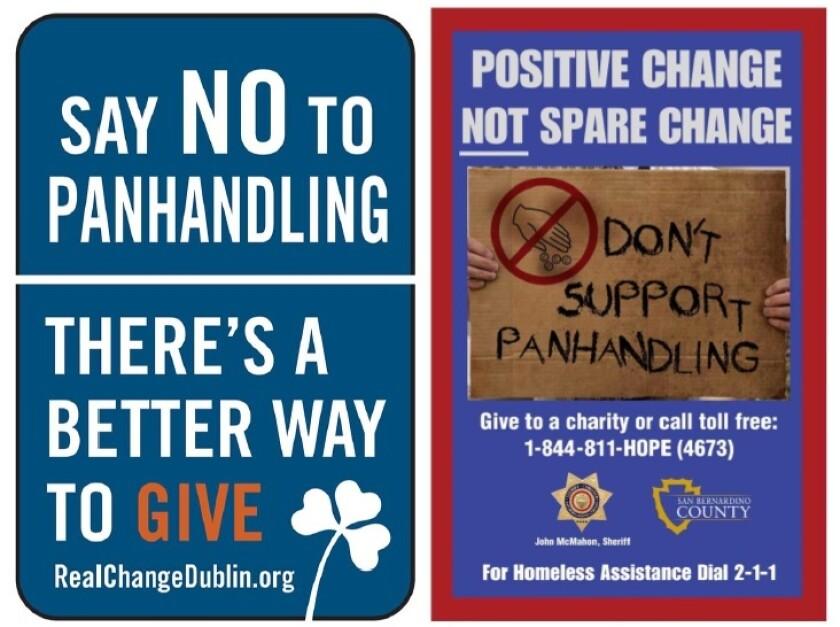 panhandling signage