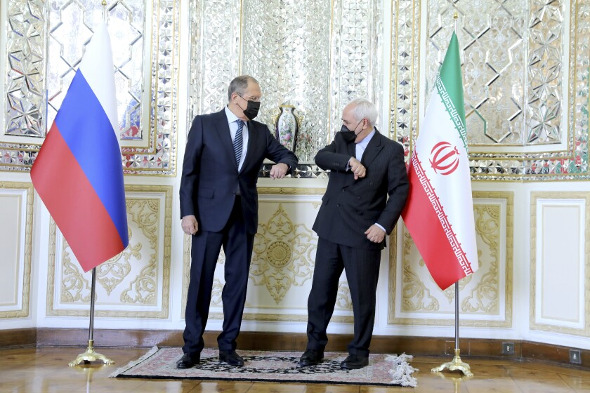 Iran's and Russia's foreign ministers