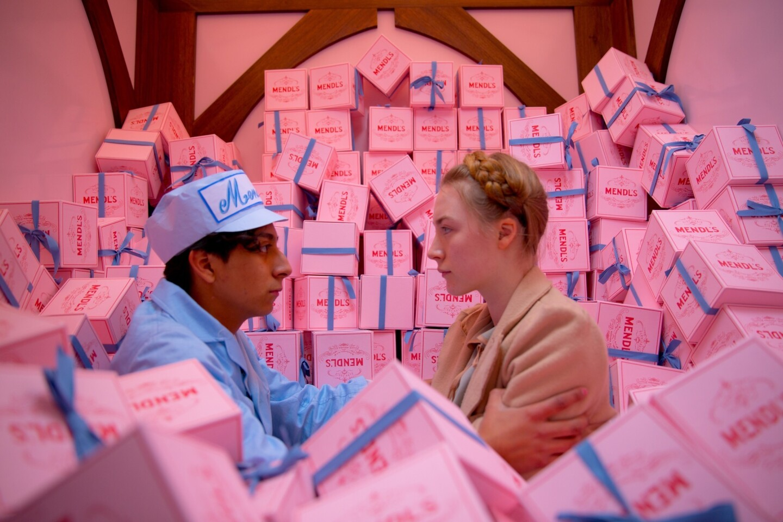 "Tony Revolori as Zero and Saoirse Ronan as Agatha in ""The Grand Budapest Hotel."""