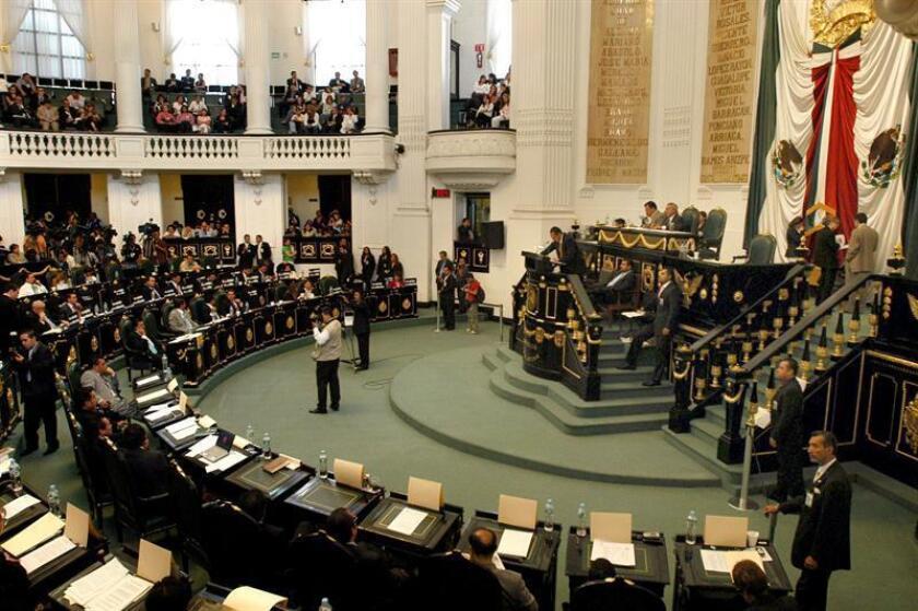 Fotografía de archivo de la Asamblea Legislativa del Distrito Federal (México). EFE/Archivo