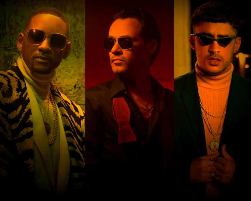 El estadounidense Will Smith y los boricuas Marc Anthony y Bad Bunny unen fuerzas para un nuevo 'hit'.