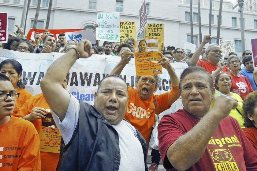 Rally against wage theft