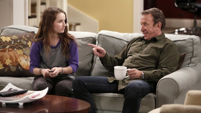 """Kaitlyn Dever and Tim Allen in """"Last Man Standing"""" on ABC."""