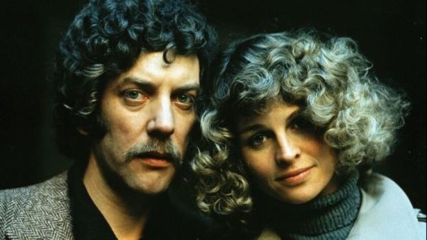 Sutherland and Christie as the Baxters from Nic Roeg's Don't Look Now, released in the UK in 1973.