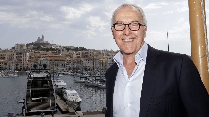 USA's Frank McCourt, former owner of the Los Angeles Dodgers, Monday, Aug. 29, 2016 in Marseille, so