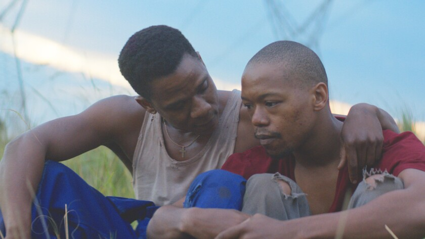 """Nakhane Toure and Bongile Mantsai in """"The Wound,"""" movie. CREDIT: courtesy Kino Lorber"""