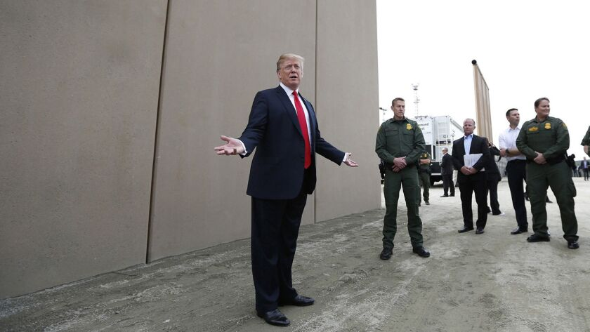 President Trump's border wall prototypes to come down