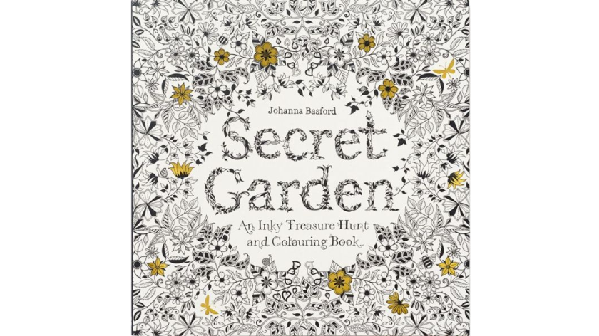 """""""Secret Garden: An Inky Treasure Hunt and Coloring Book"""" by Johanna Basford is leading the trend of coloring books for adults."""